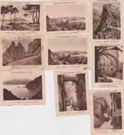 "Cf - Lot De 9 Images De CORSE, Offert Par ""La Vache Qui Rit"" (Ajaccio, Corte, Piana, Porto, Calvi, Bastia - Unclassified"