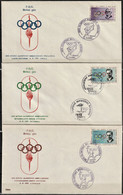 1972 Turkey Commemorative Cancellations Set For The Olympic Torch Relay Of Summer Olympic Games In Munich - Ete 1972: Munich