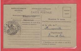 FRANCOURVILLE 1946 CARTE DE RAVITAILLEMENT DE TOUZEAU ROBERT OUVRIER BOULANGER RATIONNEMENT GUERRE 1939 1945 WWII - Andere Gemeenten