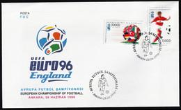 1996 Turkey UEFA European Soccer Championship In England FDC - Championnat D'Europe (UEFA)