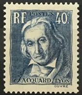 YT 295 (**) MNH 1934, Centenaire Joseph Marie Jacquard (côte 6 Euros) France – Gelu - Neufs