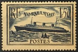 YT 299 (*) MH 1934-36 Paquebot Normandie (côte 15 Euros) Jauni France – Gelu - Neufs