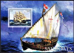 SailBoats - The Great Classic Sailboats / Benin, 2015 - Imperforated MNH** - Boten