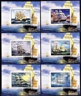 SailBoats - The Great Classic Sailboats / Benin, 2015 - Imperforated MNH** -|- 6 Blocks - Boten