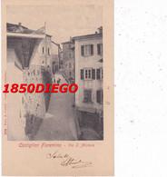 CASTIGLION FIORENTINO - VIA S. MICHELE F/PICCOLO VIAGGIATA  BELLA ANIMAZIONE - Arezzo
