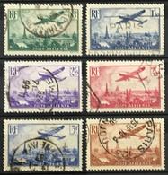 YT 8 9 10 11 12 13 (°) Obl Poste Aérienne 1936 Avion Survolant Paris Caudron (côte 60 Euros) – Kr2lot - 1927-1959 Usati