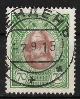 Russia 1913 70K Tsar Michael Feodorovich. Michel 94/Scott 100. Wenden Postmark Latvia Венденъ - Gebruikt