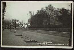 Carte Photo - Bruxelles - Boulevard Emile Bockstael Vers L'Exposition 1935 - Edit. Lits - Voir Scans - Brussels (City)