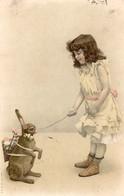 CPA - Lapin Avec Une Hotte - Fillette - 1906 - Scan Du Verso - - Otros