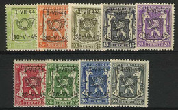 België PRE520/PRE528 * - 1944 - Klein Staatswapen - Petit Sceau De L'état - Preo Reeks 27 - 9w. - Typo Precancels 1936-51 (Small Seal Of The State)