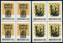POLAND 1974 Chess Festivsl Blocks Of 4  MNH / ** . Michel 2322-23 - Unused Stamps