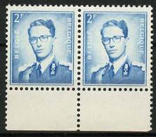 België 1066 ** - Koning Boudewijn - Roi Baudouin - 2F Blauw I.p.v. Groen - 2F Bleu Au Lieu De Vert - 1953-1972 Occhiali