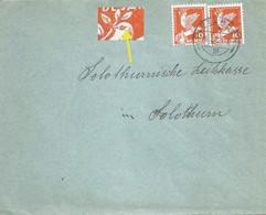 Brief  Pieterlen - Solothurn  (Markenabart)             1932 - Briefe U. Dokumente