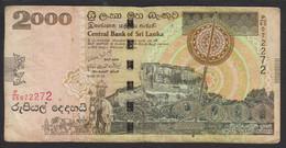 Sri Lanka 2000 Rupees 2006 P121b F - Sri Lanka