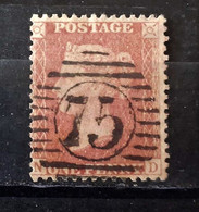 GREAT BRITAIN 1855-57 PENNY RED LETT. N-D  VICTORIA  USED - Used Stamps