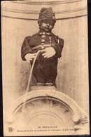Belgique - Circa 1920 - Carte Postale - Manneken-pis En Costume De Chasseur Alpin Francais - A1RR2 - Monuments