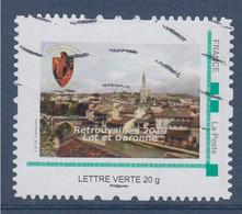 Retrouvailles 2019, Lot Et Garonne, Agen, Oblitéré LV Cadre Vert MonTimbraMoi, Assemblée Militaire 9ème - Gepersonaliseerde Postzegels (MonTimbraMoi)