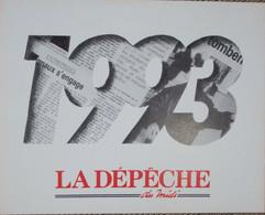 Petit Calendrier De Poche 1993 Journal - La Dépêche Du Midi - Formato Piccolo : 1991-00
