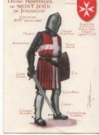 Patrick DALLANEGRA Ordre Hospitalier De St Jean De Jerusalem Chevalier XIV°s , Croix De Malte - Altre Illustrazioni