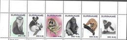 SURINAME, 2020, MNH, MONKEYS, APES,6v - Monkeys