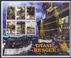 PK352 1998 MADAGASIKARA SHIPS ART TITANIC RESCUE 1KB MNH - Boten