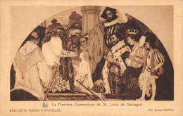 BRUXELLES - Collège St. Michel - La Première Communion De St. Louis De Gonzague. - Monuments