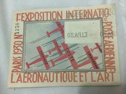"""1° Exposition Internationale De Poste Aérienne """"L' Aeronautique Et L' Art"""" PARIS 1930 - Perforation EIPA30 X 4 - 1927-1959 Briefe & Dokumente"""
