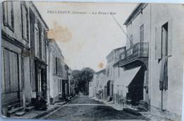 "C. P. A. : 33 PELLEGRUE : La Grande Rue, ""Café"", Animé - Andere Gemeenten"