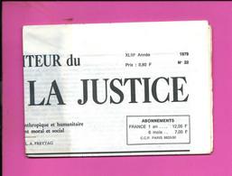 JOURNAL : Le Moniteur Du Règne De La Justice N°22  Année 1979 - 1950 - Oggi