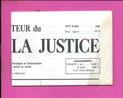 JOURNAL : Le Moniteur Du Règne De La Justice N°9  Année 1982 - 1950 - Oggi