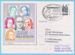JPS 51 - Allemagne - 19 - Compositeur - Entier Postal - Beethoven - Hymne De L'Europe - 9° Symphonie - Music