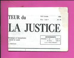 JOURNAL : Le Moniteur Du Règne De La Justice N°10  Année 1982 - 1950 - Oggi