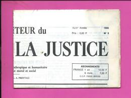 JOURNAL : Le Moniteur Du Règne De La Justice N°2  Année 1980 - 1950 - Oggi