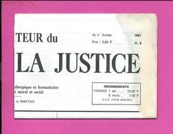 JOURNAL : Le Moniteur Du Règne De La Justice N°9  Année 1980 - 1950 - Oggi