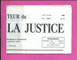 JOURNAL : Le Moniteur Du Règne De La Justice N°17  Année 1980 - 1950 - Oggi