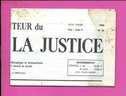 JOURNAL : Le Moniteur Du Règne De La Justice N°18  Année 1980 - 1950 - Oggi