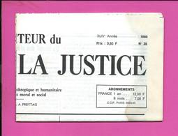 JOURNAL : Le Moniteur Du Règne De La Justice N°20  Année 1980 - 1950 - Oggi