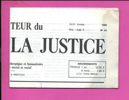 JOURNAL : Le Moniteur Du Règne De La Justice N°21  Année 1980 - 1950 - Oggi