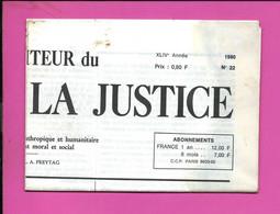 JOURNAL : Le Moniteur Du Règne De La Justice N°22  Année 1980 - 1950 - Oggi