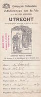 UTRECHT ENVELOPPE EPAISSE ANCIENNE DE LA COMPAGNIE HOLLANDAISE D ASSURANCE PARIS DIRECTION POUR LA FRANCE ANNEE 1909 - Netherlands