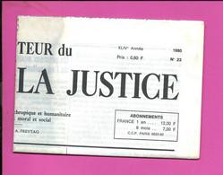 JOURNAL : Le Moniteur Du Règne De La Justice N°23  Année 1980 - 1950 - Oggi