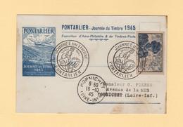 Journee Du Timbre 1945 - Pontarlier - Expositions Philatéliques