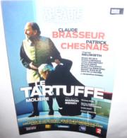 """Carte Postale """"Cart'Com"""" (2012) Le Tartuffe (Molière) Théâtre De Paris (Claude Brasseur - Patrick Chesnais) - Advertising"""