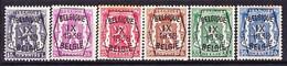 Belgie Nr. 381/386 25ct Roestplekje - Typo Precancels 1936-51 (Small Seal Of The State)