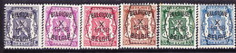Belgie Nr. 387/392 - Typo Precancels 1936-51 (Small Seal Of The State)