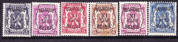 Belgie Nr. 393/398 30ct Roestplekje - Typo Precancels 1936-51 (Small Seal Of The State)