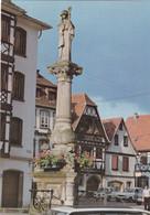67, Obernai, Fontaine De 1906 Portant Une Statue De Sainte Odile - Obernai