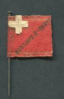 """WW1 Drapeau """"Journée De Poilu - Montjoye St Denys"""" WWI - 1914-18"""