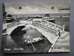 CP Italie  Veneto  CHIOGGA - Ponte Vigo -  Gondolier - Bateau Vedette  Vers 1950 - Chioggia