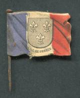 """WW1 Drapeau """"Journée De Poilu - Ile-de-France / La Journée Française 1915 Secours National"""" WWI - 1914-18"""